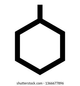 Benzene, Organic Chemistry, Laboratory Outline Style Icon Vector - Vector
