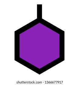 Benzene, Organic Chemistry, Laboratory Outline Filled Style Icon Vector - Vector