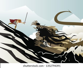 beowulf fighting the grendel