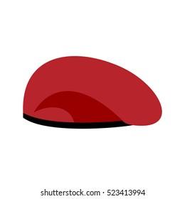d3c7b98ec95 Beret military red. Soldiers cap. army hat. War barret