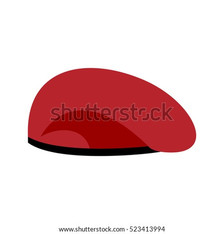 641e1975391 Beret Military Red Soldiers Cap Army Stock Vector (Royalty Free ...