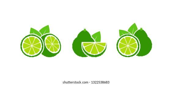 Bergamot logo. Isolated bergamot on white background