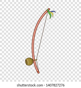 Berimbau, percussion instrument icon. Cartoon illustration of berimbau, percussion instrument vector icon for web
