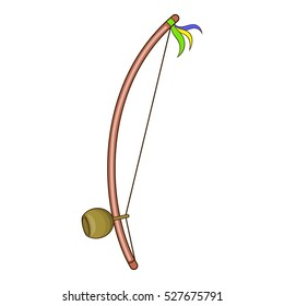 Berimbau, percussion instrument icon. Cartoon illustration of berimbau, percussion instrument vector icon for web