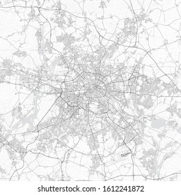 Berlin city map. Detailed map of Berlin (Germany). Transport system of the city. Includes properly grouped map features (water objects, railroads, roads etc).