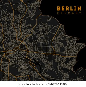 Berlin map. Detailed poster city map Berlin. Germany