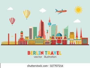 Berlin skyline. Vector illustration
