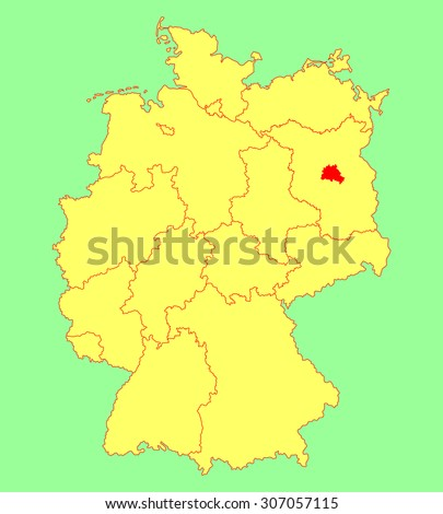 Berlin On Map Of Germany.Berlin State Map Germany Vector Map Stock Vector Royalty Free