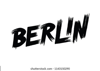 Berlin typography design vector, for t-shirt, poster and other uses