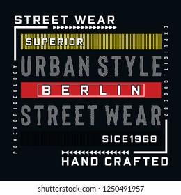 berlin urban style typogra...lustration for t shirt