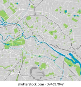 Berlin vector map ultra detailed editable