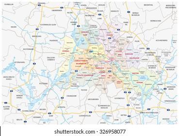 Berlin-Brandenburg Metropolitan Region Map