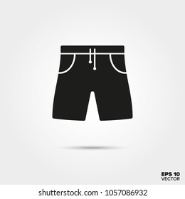 Bermuda shorts vector icon. Summer vacation and water sports symbol.