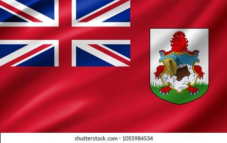Bermuda (UK) Flag in Vector Illustration