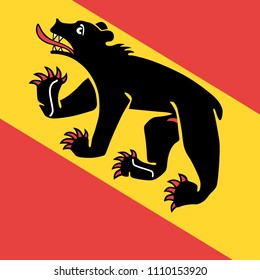 Bern or Berne city of Switzerland vector flag