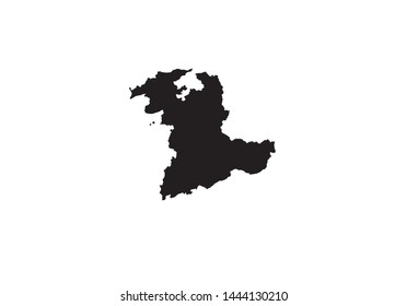 Bern canton outline map Switzerland region country state
