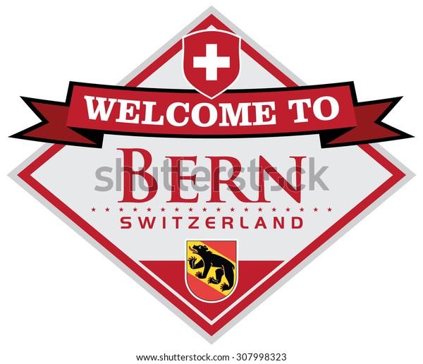bern switzerland sticker