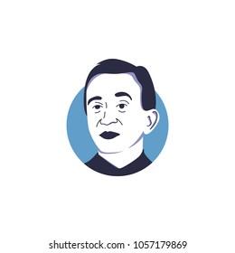 Bernard Arnault in vector illustration isolated, LVMH chairman