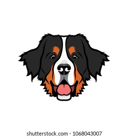 Bernese mountaing dog - isolated vector illustration