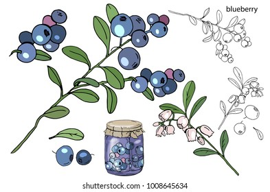 Berries and jam
