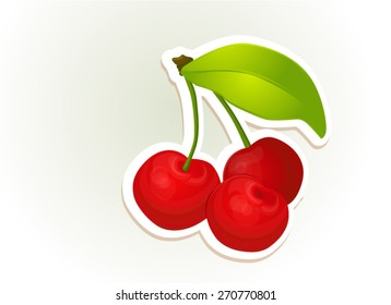 berry, ripe, bright, cherry, cherry-tree