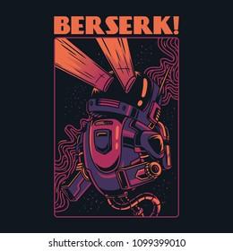 Berserk Robot Illustration