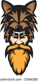 berserker viking .. colored mascot art work