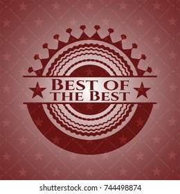 Best of the Best badge with red background