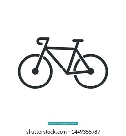 The best bicycle, bike icon vector illustration logo template for many purpose
