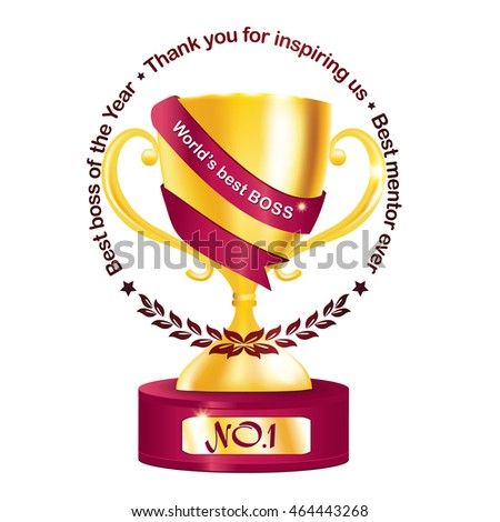 best boss year thank you inspiring stock vector royalty free