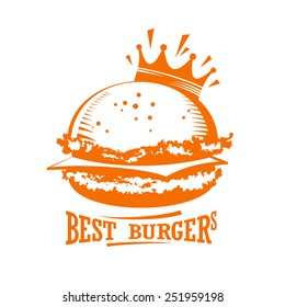 Best burgers graphic logo.