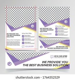 best business solution flyer, social media, and banner templates
