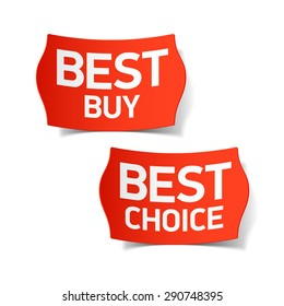 Best buy and best choice labels. Vector.
