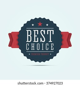 Best choice badge. Product award medal. Vector illustration.