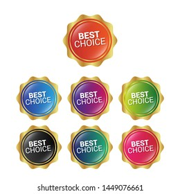 Best choice - glossy labels or tags. circle sticker with gradient color.trendy color. modern design.set