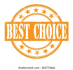 best choice grunge rubber stamp on white, vector illustration