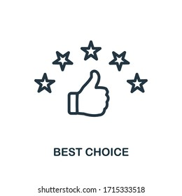 Best Choice icon. Line style simple element from e-commerce icons collection. Pixel perfect simple best choice icon for web design, apps, software, print usage.