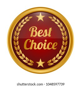 Best choice label on white background. Vector illustration