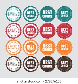 Best Choice Label with Ribbon Vector Illustration EPS10