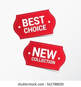 Best Choice and New Collection Labels