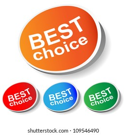Best choice, best offer, best produc. Vector.