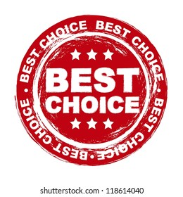 best choice stamp over white background. vector illustration