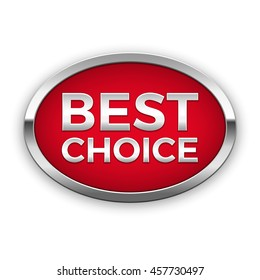 Best choice vector badge, silver