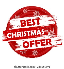 Best Christmas Offer - text in drawn circle label