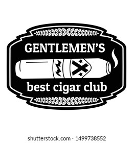 Best cigar club logo. Simple illustration of best cigar club vector logo for web design isolated on white background