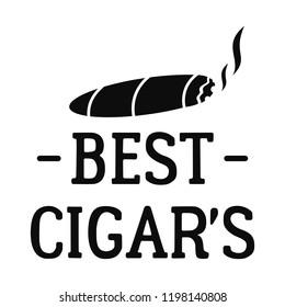Best cigar logo. Simple illustration of best cigar vector logo for web design isolated on white background