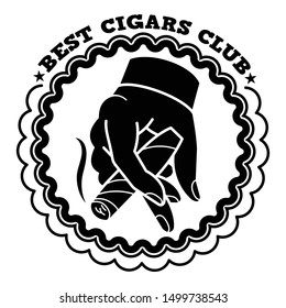 Best cigars club logo. Simple illustration of best cigars club vector logo for web design isolated on white background