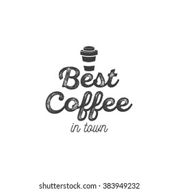 best coffee logo vector vintage design