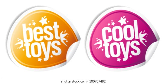 Best cool toys stickers set.