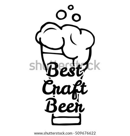 Best Craft Beer Handmade Typographic Art Stock Vector Royalty Free
